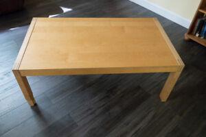 Coffee table - Ikea maple finish