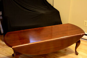 Coffee table & 2 end tables-solid cherrywood