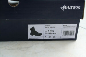 """ BATES""  SAFETY WORK BOOTS COMP TOE WITH SIDE ZIPPER !"