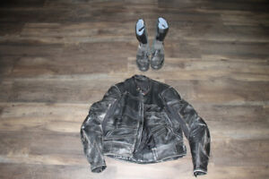 Leather Joe Rocket motorcycle jacket