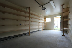 Inner city garage, clean, dry, many shelves