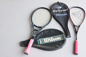 Wilson and Dunlop Tennis rackets and Black Knight Squash rackets