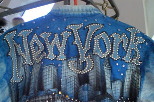 Veste de jeans NEWYORK peint à la main UNIQUE/Faites votre offre Saguenay Saguenay-Lac-Saint-Jean image 10