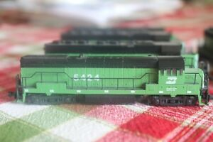 Large Collection of N Scale Model Trains