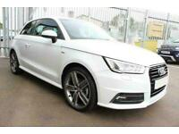 2015 WHITE AUDI A1 1.4 TFSI 125 S LINE PETROL MANUAL 3DR CAR FINANCE FR £169 PCM