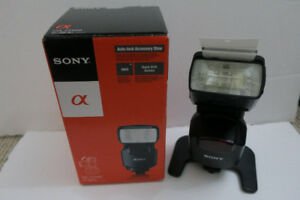 Sony HVL-43AM (Bounce/Swivel/Zoom) Flash w/Case & Mini-Stand