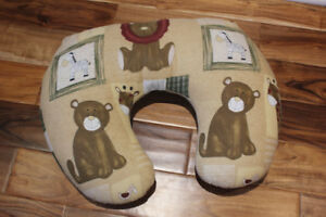 Jolly Jumper Nursing/Play Pillow with a brown cover