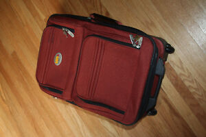 Via Rail Carry on luggage in burnt orange purchased at the Bay Kitchener / Waterloo Kitchener Area image 5