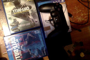 500GB Playstation 4, 4 games cod IW , BO3, DESTINY, ESO  cheap