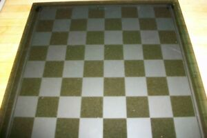 New glass chess board and all 16 glass pieces/figures