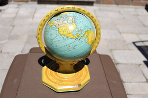 1950'S CHEIN OR OHIO ART TIN WORLD GLOBE