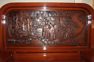 ANTIQUE ASIAN HAND CARVED BAR
