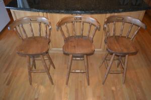Solid Wood Kitchen / Bar Stools