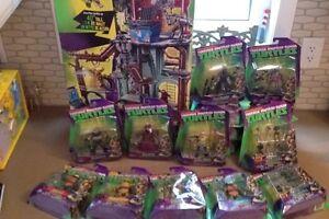Tmnt teenage mutant ninja turtles sewer set and 17 figures bnib