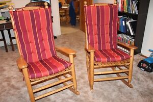 2 Rocking Chairs with Cushions