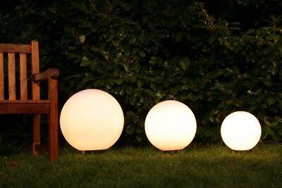 Kugelleuchten Set Gartenleuchte Außenlampe Gartenlampe Erdspiess Außenleuchte