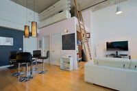 Luxurious Furnished Loft - 14ft Ceilings - Indoor Heated Parking
