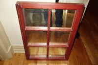 Fenêtre antique en miroir / Wooden Antique Window Mirror