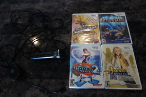NINTENDO WII GAMES AND MICROPHONE