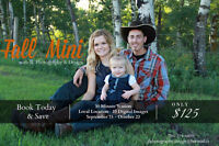 Only $125.00 Fall Mini Photography Sessions