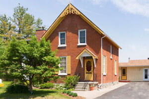 Gracious renovated century home in Almonte with workshop/studio