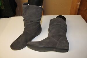 Steve Madden Grey Suede Slouch Boots London Ontario image 1