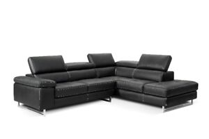 Contemporary Leather sectional - White