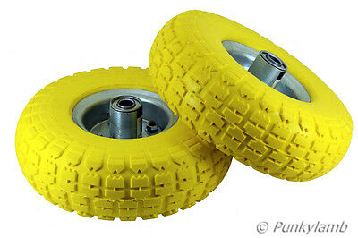 """2x10"""" Solid Rubber Tyre Wheel Replacement No More Flats Sack Truck Trolley Cart"""