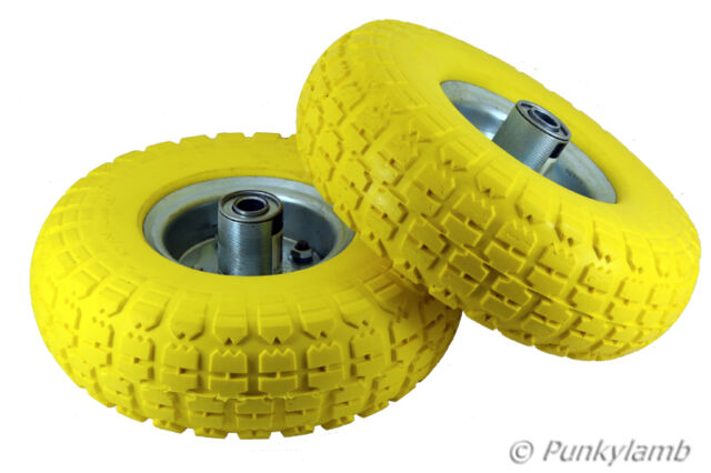"2x10"" Solid Rubber Tyre Wheel Replacement No More Flats Sack Truck Trolley Cart"