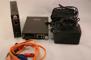 DLINK DMC-300SC fibre media converters - fiber to copper Etherne