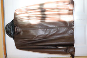 Brown Leather jacket  for sale .