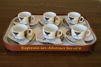 Espresso set-Abstract Set of 6