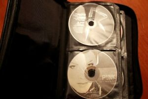 Portable CD Case Holder with 44 CDs
