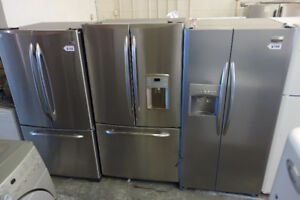 FRIDGES WHITE/BLACK/STAINLESS STEEL USED LIKE NEW WITH WARRANTY!
