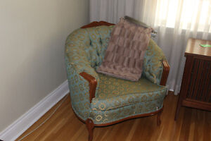 Vintage French Provincial Couch, Chair & Tables