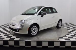 Fiat 500 Lounge (cuir rouge) 2012