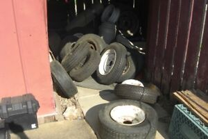 LOTS OF TRAILER TIRES ON RIMS---CALL ME