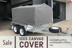 10X5 Trailer Canvas Tarp Cover 600mm Cage Water Proof Heavy Duty Canva