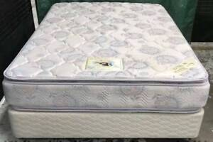 Excellent queen bed base & double-sided Pillow Top queen mattress Kingsbury Darebin Area Preview