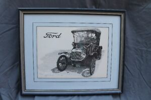 1915 Model T Ford Print by Goran Skalin - Numbered 104/975