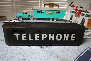 ART DECO LIGHTED TELEPHONE SIGN