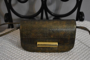 Vintage Gold and Brown Purse