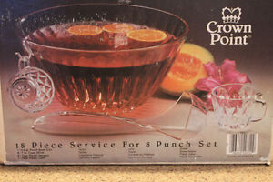 Punch Bowl/cups in box