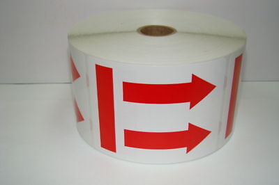 3x4 Double Red Arrow To Show This Side Up Shipping Labels 500roll - 1 Roll
