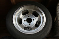 Old school slotted rims 195/60/14 tires
