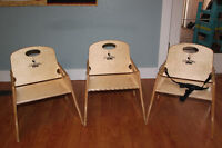 Amazing kids' chairs:  1 High Chairrie, 2 Chairries