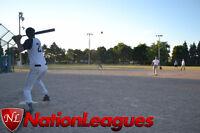 Umpired coed / mens softball league