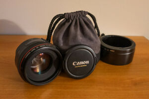 Canon EF 50mm f1.2L Lens excellent condition