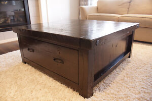 Reclaimed Solid Wood Coffee Table with Drawers $1595 by LIKEN Woodworks