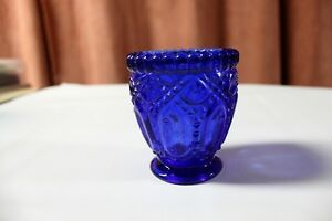 Two Beautiful Royal Blue Glass Candle Holders Cut Glass Kingston Kingston Area image 5
